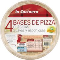 Bases de pizza LA COCINERA, pack 4x130 g