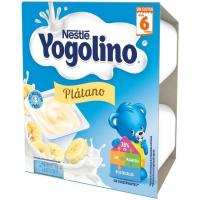 Iogolino de plátano NESTLÉ, pack 4x100 g