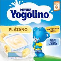 Yogolino de plátano NESTLÉ, pack 4x100 g