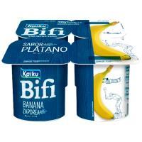 Yogur Bifi Activium de plátano KAIKU, pack 4x125 g