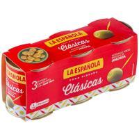 Aceitunas rellenas LA ESPAÑOLA, pack 3x50 g