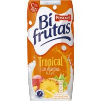 Bifrutas tropical con leche PASCUAL, pack 3x330 ml