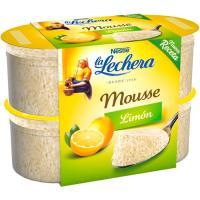 Mousse de limón LA LECHERA, pack 4x60 g