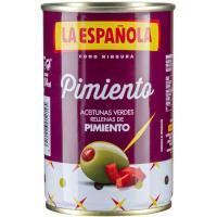Aceitunas rellenas de pimiento LA ESPAÑOLA, lata 130 g