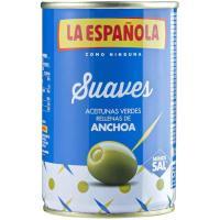 Aceitunas rellenas de anchoa suave LA ESPAÑOLA, lata 130 g