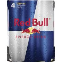 Bebida energética RED BULL, pack 4x25 cl