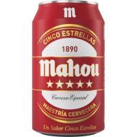 Cerveza MAHOU 5 Estrellas, lata 33 cl