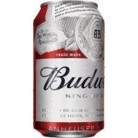 Cerveza americana BUDWEISER, lata 33 cl