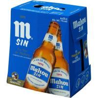 Cerveza sin alcohol MAHOU, pack botellín 6x25 cl