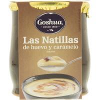 Natillas de huevo con caramelo GOSHUA, tarro de barro 140 g