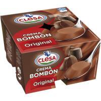 Crema bombón CLESA, pack 4 x 125 g