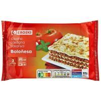 Lasaña Boloñesa EROSKI, bandeja 500 g