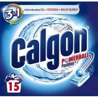 Antical lavadora CALGÓN, caja 15 pastillas