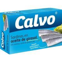 Sardina en aceite Girasol CALVO, lata 120 g