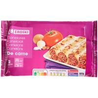 Canelones de Carne EROSKI, bandeja 500 g