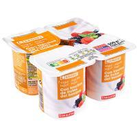 Yogur con frutas del bosque EROSKI, pack 4x125 g