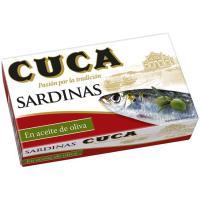 Sardina en aceite 3/4 piezas CUCA, lata 120 g