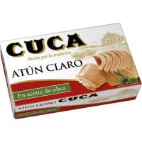 Atún claro en aceite de oliva CUCA, lata 112 g