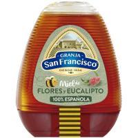 Miel de eucalipto-tilo GRANJA SAN FRANCISCO, dosificador 350 g
