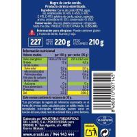 Magro de cerdo cocido extra EROSKI, lata 210 g