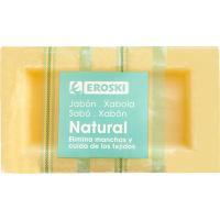 Jabón común EROSKI basic, pastilla 240 g