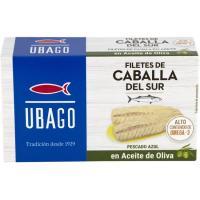 Filete de caballa en aceite de oliva UBAGO, lata 115 g