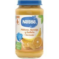 Potito de merienda-plátano-naranja-galleta NESTLÉ, tarro 250 g