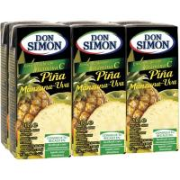 Zumo de piña-uva DON SIMON, pack 6x20 cl