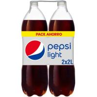 Refresco de cola sin calorías PEPSI Light, pack 2x2 litros