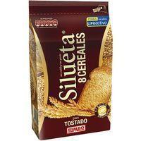 Pan tostado integral 8 cereales SILUETA, paquete 250 g
