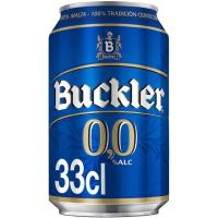 Cerveza sin alcohol BUCKLER 0, lata 33 cl