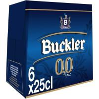 Cerveza sin alcohol BUCKLER 0, pack 6x25 cl
