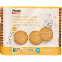 Galleta dorada redonda EROSKI basic, pack 4x200 g