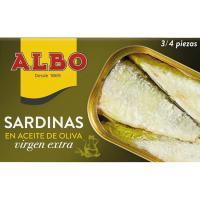 Sardinas en aceite de oliva virgen extra ALBO, lata 120 g