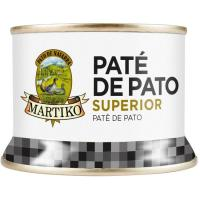 Paté de hígado de pato 75% MARTIKO, lata 130 g