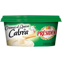 Crema al queso de cabra PRESIDENT, tarrina 125 g