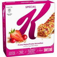 Barritas de frutas rojas KELLOGG`S Special K, 6 uds., caja 129 g