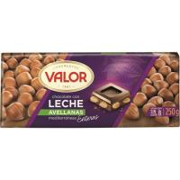 Chocolate con leche-avellanas VALOR, tableta 250 g
