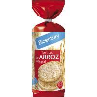 Tortitas de arroz integral BICENTURY, paquete 130 g