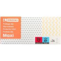 Protector maxi EROSKI, caja 36 unid.