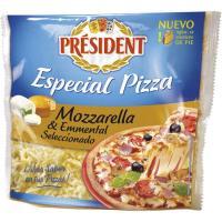 Queso rallado para pizza PRESIDENT, bolsa 150 g