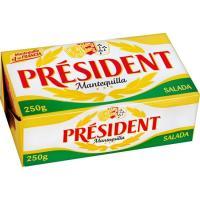 Mantequilla con sal PRESIDENT, pastilla 250 g