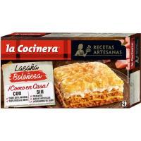 Lasaña boloñesa LA COCINERA, caja 530 g