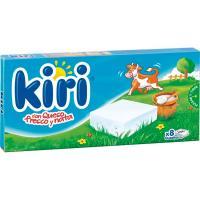 Queso natural con nata KIRI, 8 porciones, caja 144 g