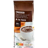 Preparado de cacao a la taza EROSKI, paquete 400 g