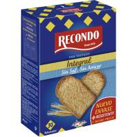 Pan tostado integral sin sal-sin azúcar RECONDO, paquete 270 g