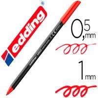Rotulador de punta redonda 0.5-1mm, color rojo EDDING 1200, 1ud