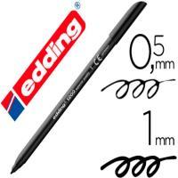Rotulador de punta redonda 0.5-1mm, color negro EDDING 1200, 1ud