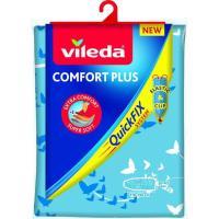 Funda tabla de planchar Confort Plus, 3 capas, adaptable 135X53 cm VILEDA, 1 ud