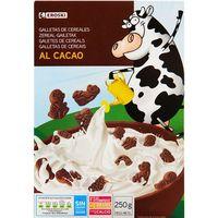 Galletita con cereales-chocolate EROSKI, caja 250 g